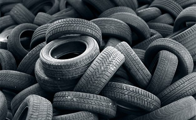 Automobile tires waste