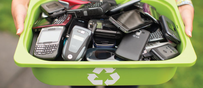 Recycling of mobile phones