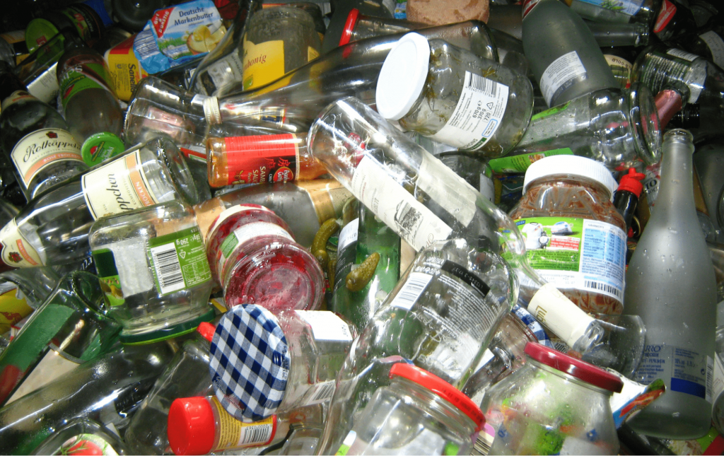 Why can't all glass products be easily recycled?